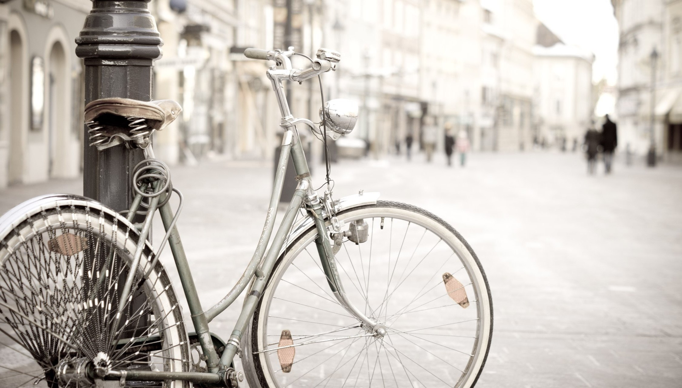 Silver Bicycle Wallpaper